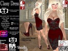 * Sexy Dreams * - Classy Dress red::EVE;eBODY;Belleza;Slink Physique; Maitreya; wowmeh; Lolas; Omega; VSFusion;