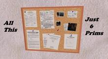 Mesh Bulletin Board - 11 peices - Less than 1 prim each