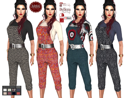 M&M-Retro Overall With T-Shirt
