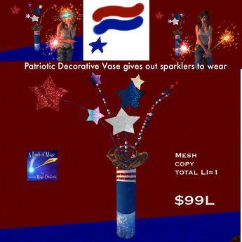 Patriotic Vase sparkler giver (bag)