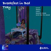 Breakfast in Bed Tray with food  & animations(bag)
