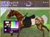 *E* Rigged GP English Saddle Set  [BOXED] RHPOA Pony Black