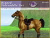 *E* Rigged Sidesaddle Set [BOXED] RHQH Brown