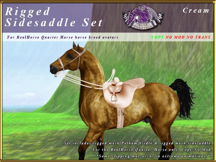 *E* Rigged Sidesaddle Set [BOXED] RHQH Cream