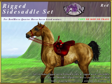 *E* Rigged Sidesaddle Set [BOXED] RHQH Red