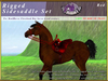 *E* Rigged Sidesaddle Set [BOXED] RHCB Red