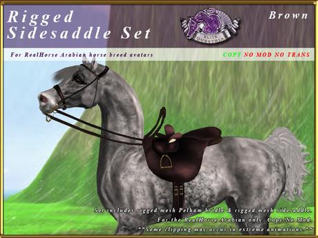 *E* Rigged Sidesaddle Set [BOXED] RHAB Brown