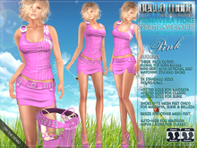 Bella Moda: Primavera Fiore Pink Spring Flower Outfit & Shoes: Fitted Mesh for Maitreya/Slink/Classic+Std Sizes - FULL