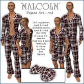 Sway's Pajama Set 'MALCOLM' red