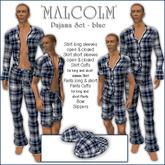 Sway's Pajama Set 'MALCOLM' blue