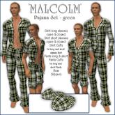 Sway's Pajama Set 'MALCOLM' green