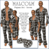 Sway's Pajama Set 'MALCOLM' brown