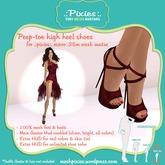.:pixies:. Alexis micro .25m Peep-toe Heels
