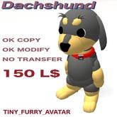 dachshund  tiny furry avatar
