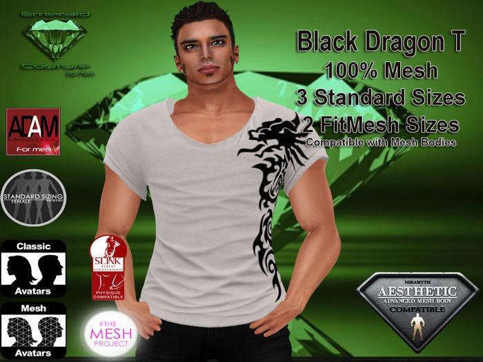 EC Mens Black Dragon T