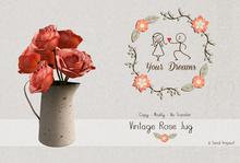 { Your Dreams } Vintage Rose Jug.