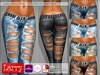 LARRY JEANS - 033b V-Cut Ripped - 6 Color Pack