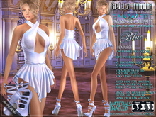 Bella Moda: Danzatore Blue Dancer Outfit & Shoes - Fitted Mesh for Maitreya/Slink/Classic+Std Sizes - FULL
