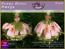 *E* Peony Dress & Omega Applier [BOXED] Peach