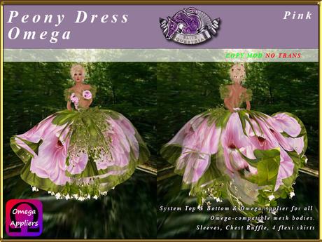 *E* Peony Dress & Omega Applier [BOXED] Pink