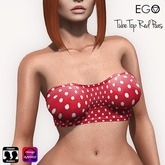 [ EGO ] Tube Top Red Poas