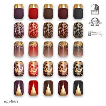 """alaskametro<3 """"Vamp/Gold"""" Slink/Omega/Maitreya/Eve nail polish applier"""