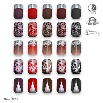 "alaskametro<3 ""Vamp/Silver"" Slink/Omega/Maitreya/Eve nail polish applier"