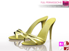 Full Perm MI Mesh Cross Straps High Heel Sandals