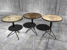 [we're CLOSED] iron table
