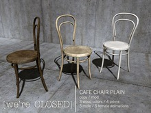 [we're CLOSED] cafe chair plain