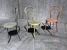 [we're CLOSED] cafe chair colored