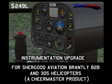 Instrument Upgrade For Shergood Aviation Brantly B2B and 305 Helicopters by CheerMaster (instruments, gauges, avionics)
