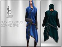 <*>B<*> Tabor Emerald Mens Hoodied Cloak
