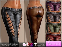 ALESSANDRA - Laced Leather Pants (6 Color Pack)