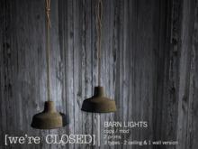 [we're CLOSED] barn lights