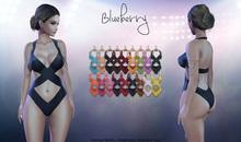 Blueberry - Michelle Mesh Swimsuit - Maitreya Lara, Belleza Freya Isis, Slink Physique Hourglass - Fat Pack