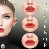 Pucker UP - Flame - Lip Colour Trio for CATWA ' Annie'