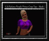 Cele'Sations Purple Prince Crop Top