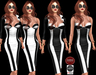 M&M-DRESS AND BOLERO BLACK&WHITE
