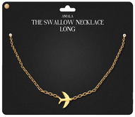 Amala - The Swallow Necklace - Long  - Gold