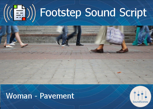 Footstep Script - Women - Pavement 1 - Single