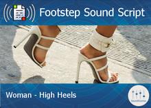 Footstep Script - Women - High Heels 1 - Single