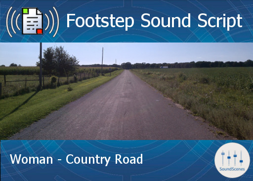 Footstep Script - Women - Country Road - Copy/Transfer