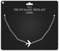 Amala - The Swallow Necklace - Long  - Silver