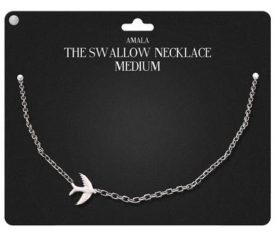 Amala - The Swallow Necklace - Medium - Silver