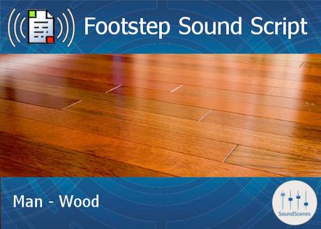 Footstep Script - Men - Wood 1 - Single