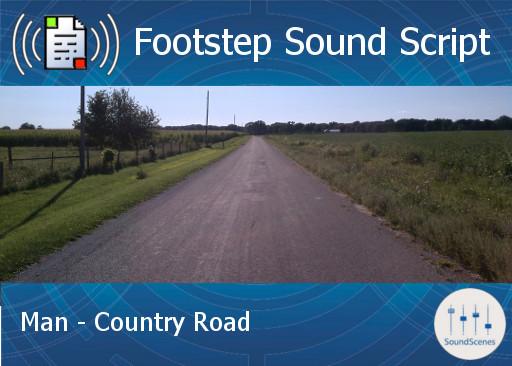 Footstep Script - Men - Country Road - Single