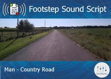 Footstep Script - Men - Country Road - Single