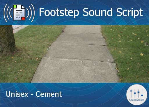 Footstep Script - Unisex - Cement 1 - Single