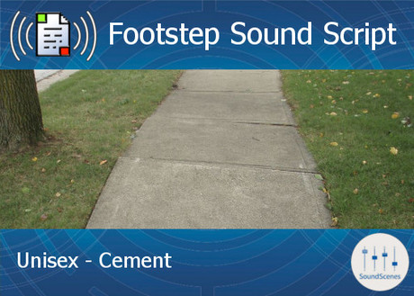 Footstep Script - Unisex - Cement 1 - Copy